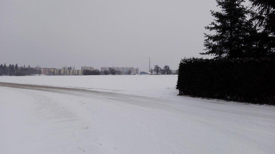 Pohled na místo, které bude zasaženo trasou silnice