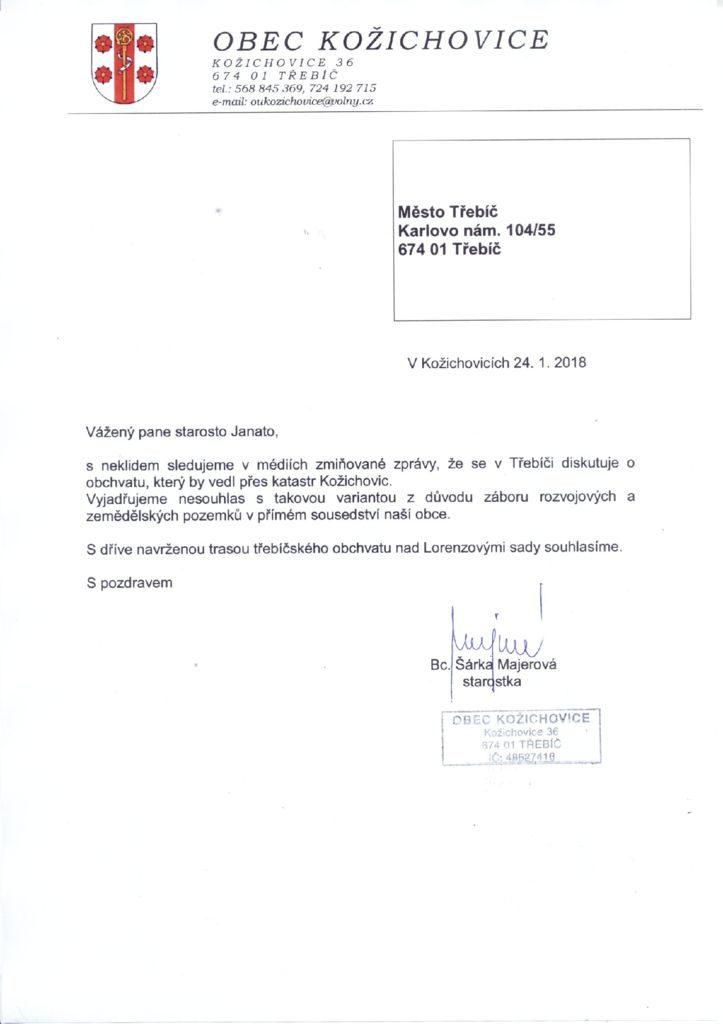thumbnail of Kožichovice – vyjádření starostky 20180124