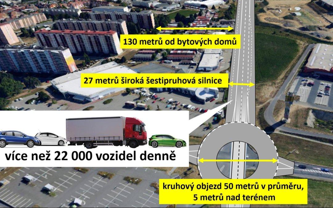 """Obchvat Třebíče – šestipruhová """"dálnice"""" na ulici Spojovací"""